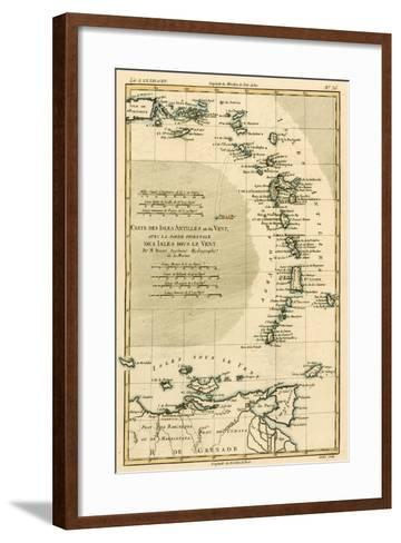 The Lesser Antilles or the Windward Islands, with the Eastern Part of the Leeward Islands, from…-Charles Marie Rigobert Bonne-Framed Art Print