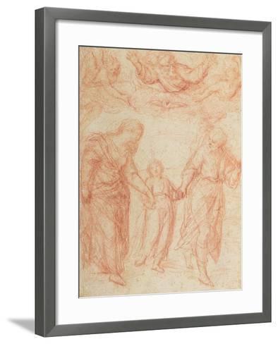 The Holy Family-Simone Cantarini-Framed Art Print