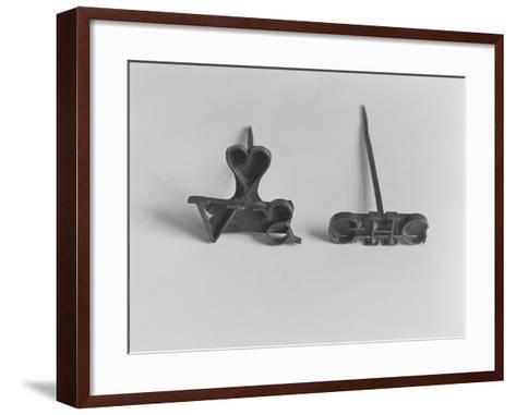 Branding Irons with Owners' Initials--Framed Art Print