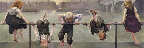 Street Arabs at Play, 1890-Dorothy, Nee Tennant Stanley-Stretched Canvas Print