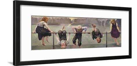 Street Arabs at Play, 1890-Dorothy, Nee Tennant Stanley-Framed Art Print