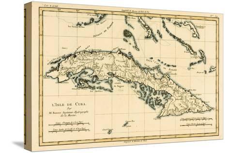 Cuba, from 'Atlas De Toutes Les Parties Connues Du Globe Terrestre' by Guillaume Raynal (1713-96)?-Charles Marie Rigobert Bonne-Stretched Canvas Print