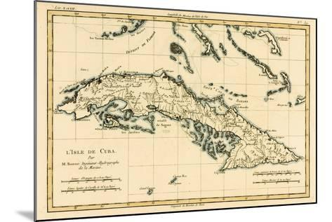 Cuba, from 'Atlas De Toutes Les Parties Connues Du Globe Terrestre' by Guillaume Raynal (1713-96)?-Charles Marie Rigobert Bonne-Mounted Giclee Print