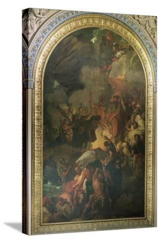St. Paul Saved from a Shipwreck Off Malta, Altarpiece of the Chapel of St. Peter and St. Paul in…-Benjamin West-Stretched Canvas Print