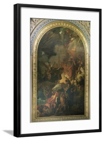 St. Paul Saved from a Shipwreck Off Malta, Altarpiece of the Chapel of St. Peter and St. Paul in…-Benjamin West-Framed Art Print
