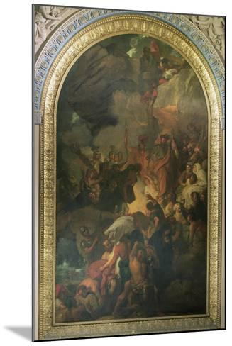 St. Paul Saved from a Shipwreck Off Malta, Altarpiece of the Chapel of St. Peter and St. Paul in…-Benjamin West-Mounted Giclee Print