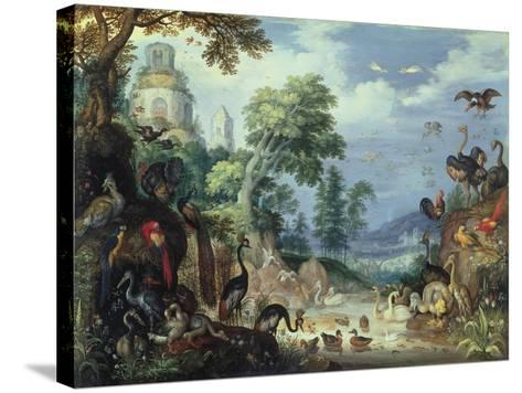 Landscape with Birds, 1628-Roelandt Jacobsz^ Savery-Stretched Canvas Print