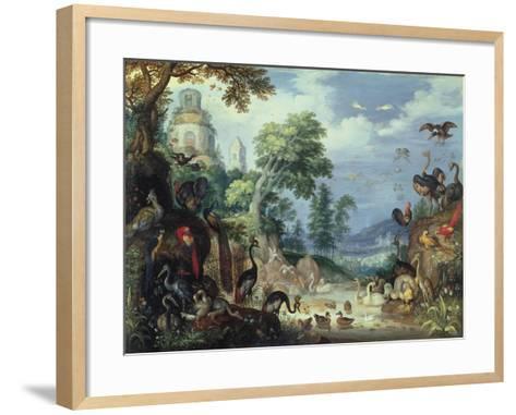 Landscape with Birds, 1628-Roelandt Jacobsz^ Savery-Framed Art Print