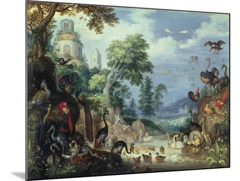 Landscape with Birds, 1628-Roelandt Jacobsz^ Savery-Mounted Giclee Print