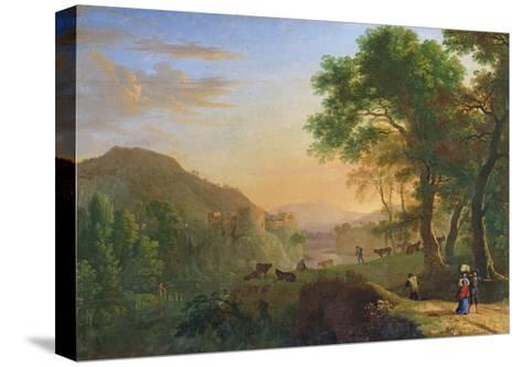 Setting Sun, Italy-Herman Van Swanevelt-Stretched Canvas Print