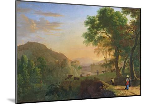 Setting Sun, Italy-Herman Van Swanevelt-Mounted Giclee Print
