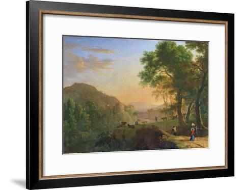 Setting Sun, Italy-Herman Van Swanevelt-Framed Art Print