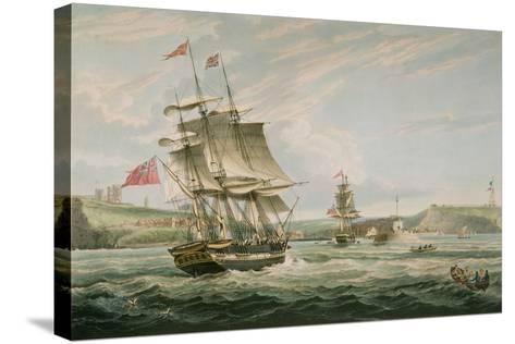 Whitby, Published by G. Chambers and E. Fisher, 1826-George the Elder Chambers-Stretched Canvas Print