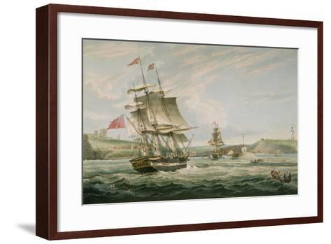 Whitby, Published by G. Chambers and E. Fisher, 1826-George the Elder Chambers-Framed Art Print