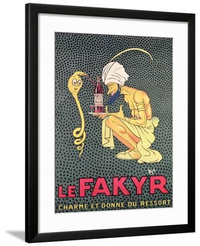 The Fakyr: Charmer and Giver of Spirit, Advertisement for 'Fakyr' Aperitif-Michel, called Mich Liebeaux-Framed Art Print