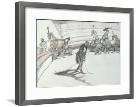 Au Cirque: Chevaux En Liberte, 1899-Henri de Toulouse-Lautrec-Framed Art Print