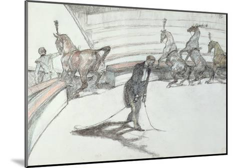Au Cirque: Chevaux En Liberte, 1899-Henri de Toulouse-Lautrec-Mounted Giclee Print