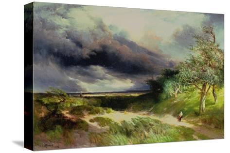 East Hampton, Long Island, Sand Dunes, 1892-Thomas Moran-Stretched Canvas Print