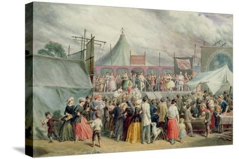 A Visit to the Circus, C.1885-Charles Green-Stretched Canvas Print