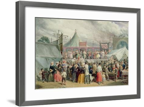 A Visit to the Circus, C.1885-Charles Green-Framed Art Print
