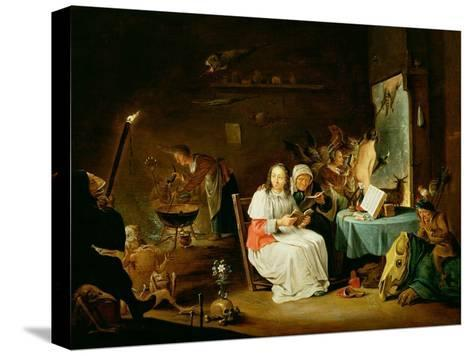 Witches Preparing for the Sabbat-David Teniers the Younger-Stretched Canvas Print