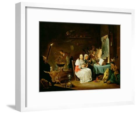 Witches Preparing for the Sabbat-David Teniers the Younger-Framed Art Print
