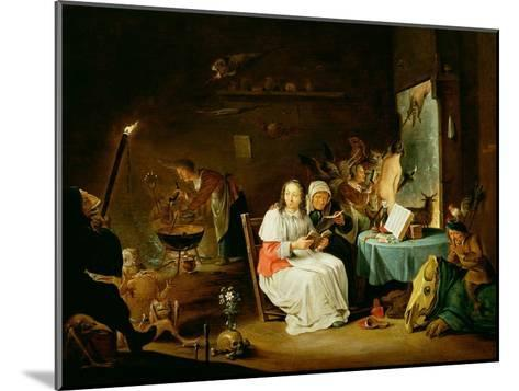 Witches Preparing for the Sabbat-David Teniers the Younger-Mounted Giclee Print