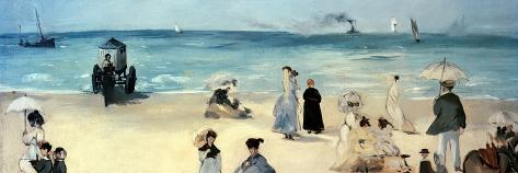 Beach Scene-Edouard Manet-Stretched Canvas Print