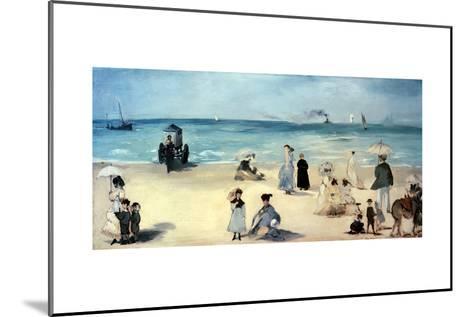 Beach Scene-Edouard Manet-Mounted Giclee Print