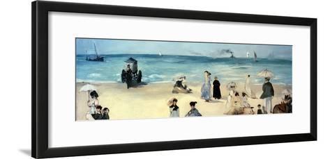 Beach Scene-Edouard Manet-Framed Art Print