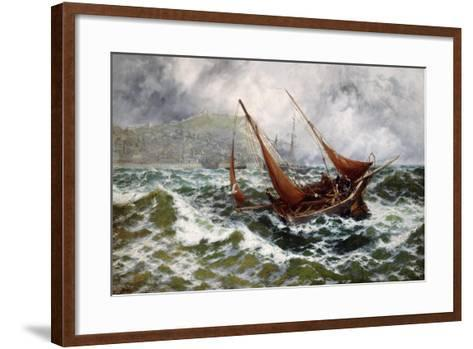 Storm Driven Off Scarborough-Thomas Rose Miles-Framed Art Print