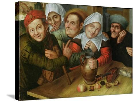 A Merry Company, C.1557-Jan Massys or Metsys-Stretched Canvas Print
