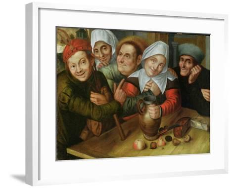 A Merry Company, C.1557-Jan Massys or Metsys-Framed Art Print