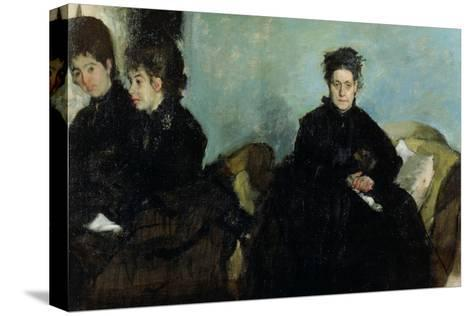 The Duchess De Montejasi and Her Daughters Elena and Camilla, 1876-Edgar Degas-Stretched Canvas Print