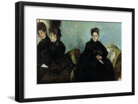 The Duchess De Montejasi and Her Daughters Elena and Camilla, 1876-Edgar Degas-Framed Art Print