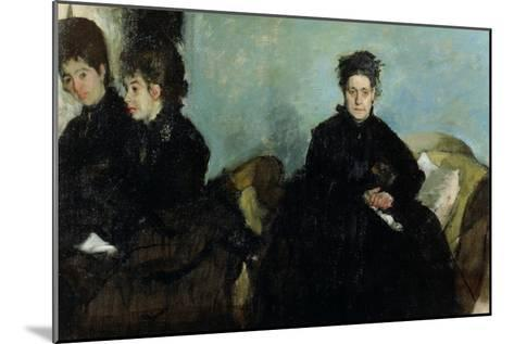 The Duchess De Montejasi and Her Daughters Elena and Camilla, 1876-Edgar Degas-Mounted Giclee Print