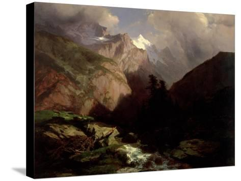 The Jungfrau, Switzerland-Alexandre Calame-Stretched Canvas Print