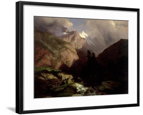 The Jungfrau, Switzerland-Alexandre Calame-Framed Art Print