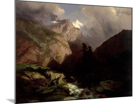 The Jungfrau, Switzerland-Alexandre Calame-Mounted Giclee Print