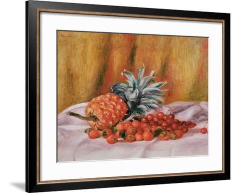 Strawberries and Pineapple, C.1895-Pierre-Auguste Renoir-Framed Art Print