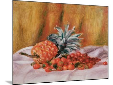 Strawberries and Pineapple, C.1895-Pierre-Auguste Renoir-Mounted Giclee Print