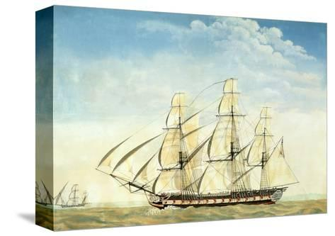 The Frigate Uss Essex-Joseph Howard-Stretched Canvas Print