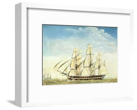 The Frigate Uss Essex-Joseph Howard-Framed Art Print