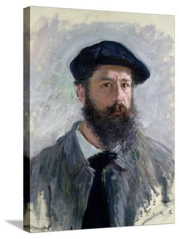 Self Portrait with a Beret, 1886-Claude Monet-Stretched Canvas Print