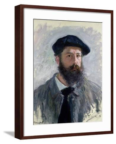 Self Portrait with a Beret, 1886-Claude Monet-Framed Art Print