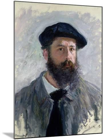 Self Portrait with a Beret, 1886-Claude Monet-Mounted Giclee Print