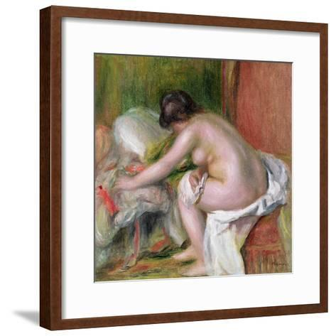 Seated Bather, 1898-Pierre-Auguste Renoir-Framed Art Print