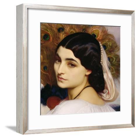 Pavonia, 1859 (Detail)-Frederick Leighton-Framed Art Print