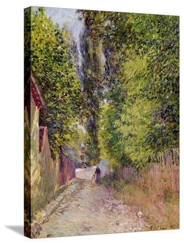 Landscape Near Louveciennes, 1876-Alfred Sisley-Stretched Canvas Print