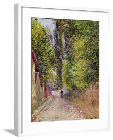 Landscape Near Louveciennes, 1876-Alfred Sisley-Framed Art Print
